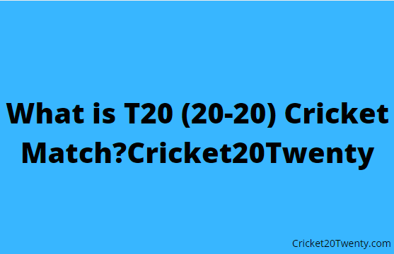 What is T20 (20-20) Cricket Match?Cricket20Twenty