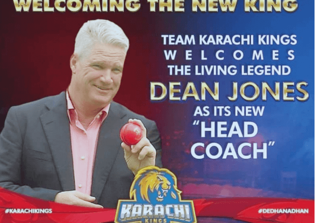 Karachi Kings Signs Australia's Dean Jones as Head Coach