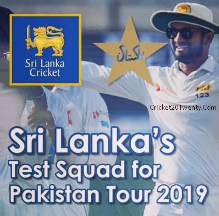 Sri Lanka Cricket Team Test Squad For Pakistan Tour 2019