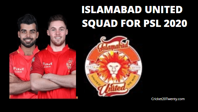 Islamabad United Squad For PSL 5-PSL 2020