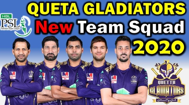 Quetta Gladiators Squad For PSL 5-PSL 2020