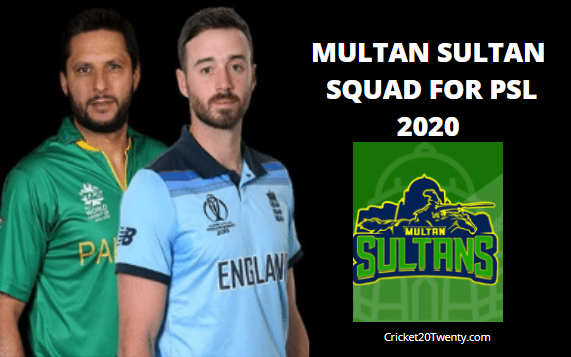 Multan Sultan Squad For PSL 5-PSL 2020