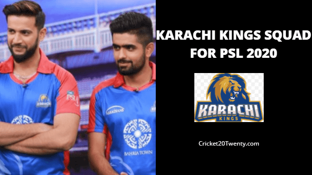 Karachi Kings Squad For PSL 5-PSL 2020
