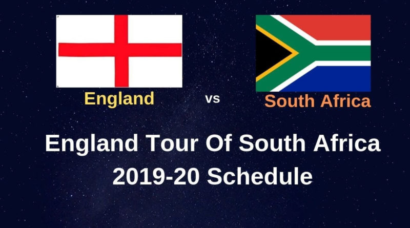 England vs South Africa Schedule, Time and Venue