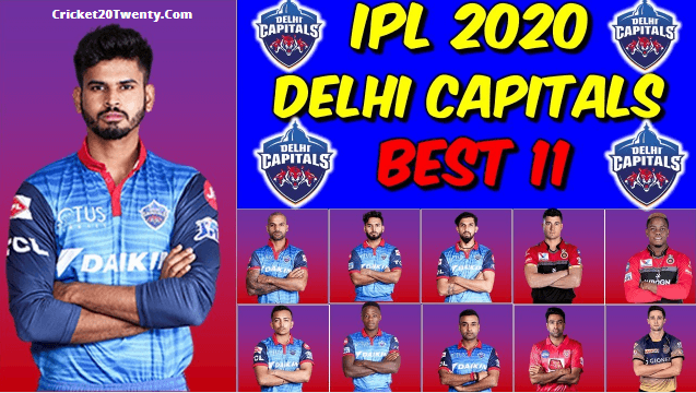 IPL 2020 best playing 11 for Delhi Capitals-IPL 13