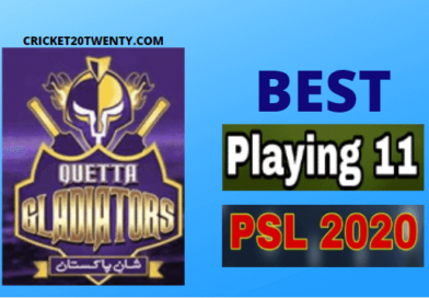 PSL 2020 Best playing 11 for Quetta Gladiators-PSL 5