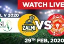 Live PSL Match Today Online