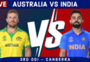LIVE Aus vs IND Score & Hindi Commentary | Australia vs India 2020 Live cricket match today