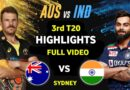 India vs Australia 3RD T20| Full Match Highlights 2020