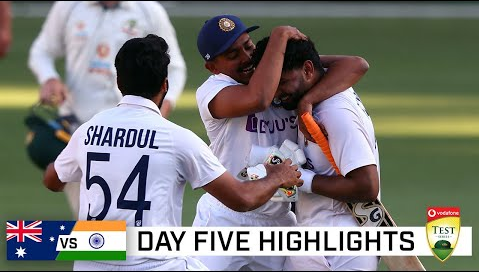 India vs Australia 4th Test Highlights-IND vs AUS 4th Test Day 5