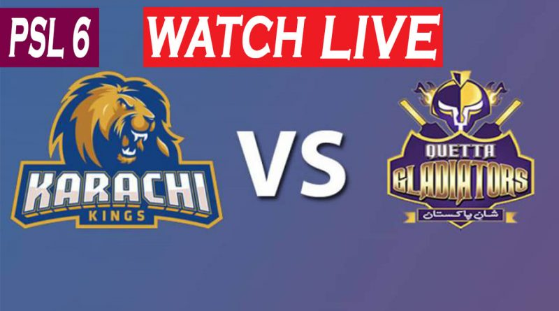 PTV Sports Match Live-PSL Live Score-PSL Today Match-KK vs QG